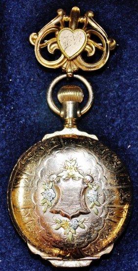 Elgin 1893 Gold Mens Pocket Watch Hunter Case