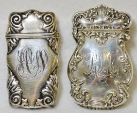 (2) 1900-1915 Sterling James Blake + Art Nouveau Vestas