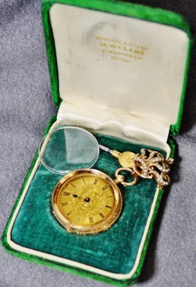 Rare 18k French Ornate Pocket Watch Late 1800's