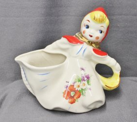 Hull 1940s Little Red Riding Hood Side Pour Creamer