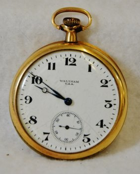 Waltham Ladies Gold Plated Watch 17 Jewels C1890