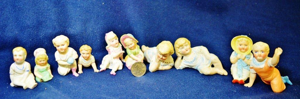 1920s-1930s HP JAPANESE BISQUE 1 GLAZE CHILDREN FIGURES