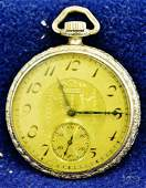1923 ELGIN 3 POCKET WATCH 14K GOLD FILLED TIVOLI CASE