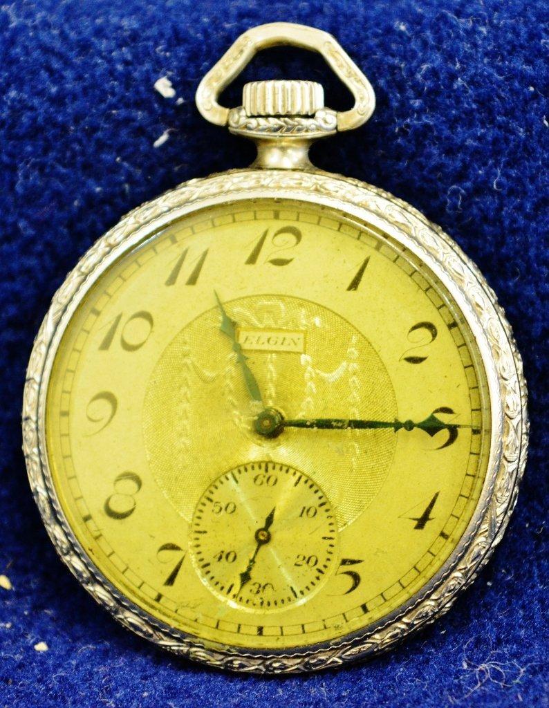 1923 ELGIN #3 POCKET WATCH 14K GOLD FILLED TIVOLI CASE