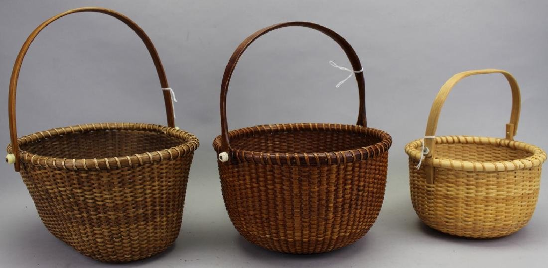 (3) Nantucket Baskets