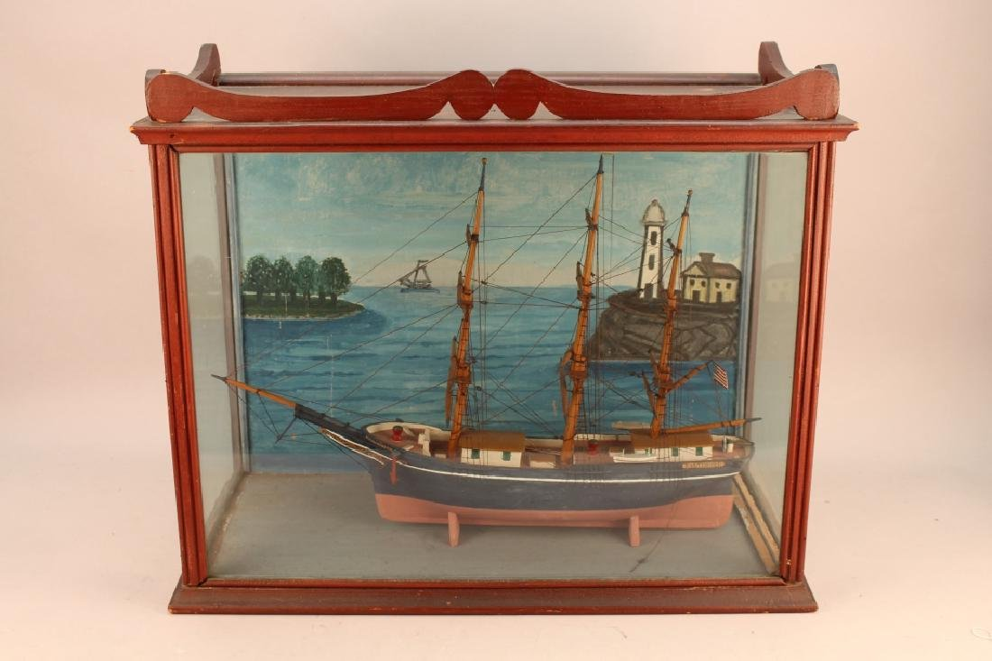 "Antique Framed ""Baltimore"" Diorama"