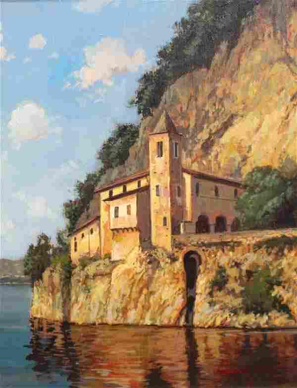 Gianfranco, Signed 20th C. Italian Coastal Scene