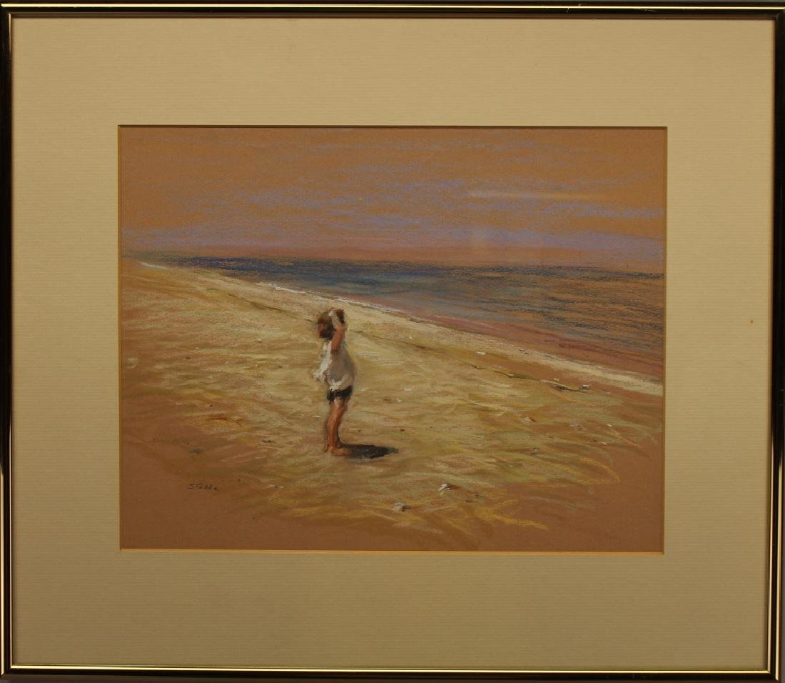 Marie Stobbe (1909 - 2003) Child at the Beach