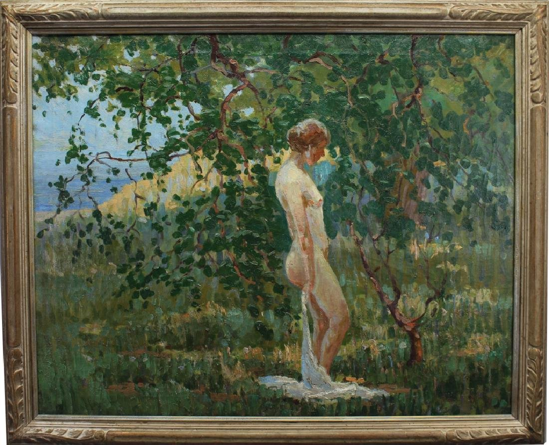 Exceptional Impressionist Woman in Landscape