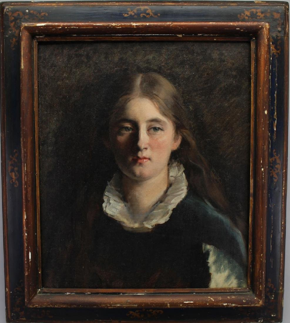 Early 20th C. American School Portrait of a Girl