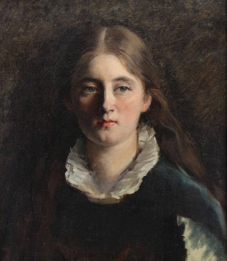Early 20th C. American School Portrait of a Girl - 2