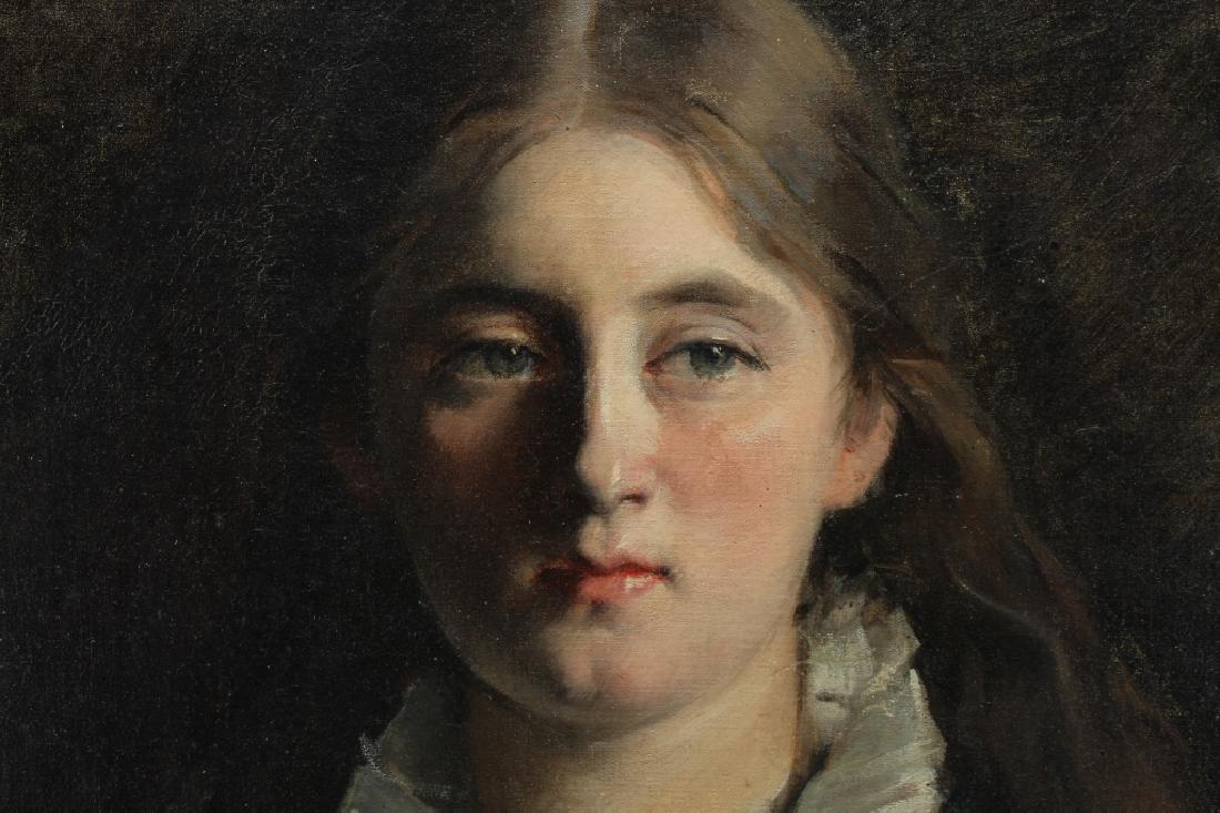 Early 20th C. American School Portrait of a Girl - 3