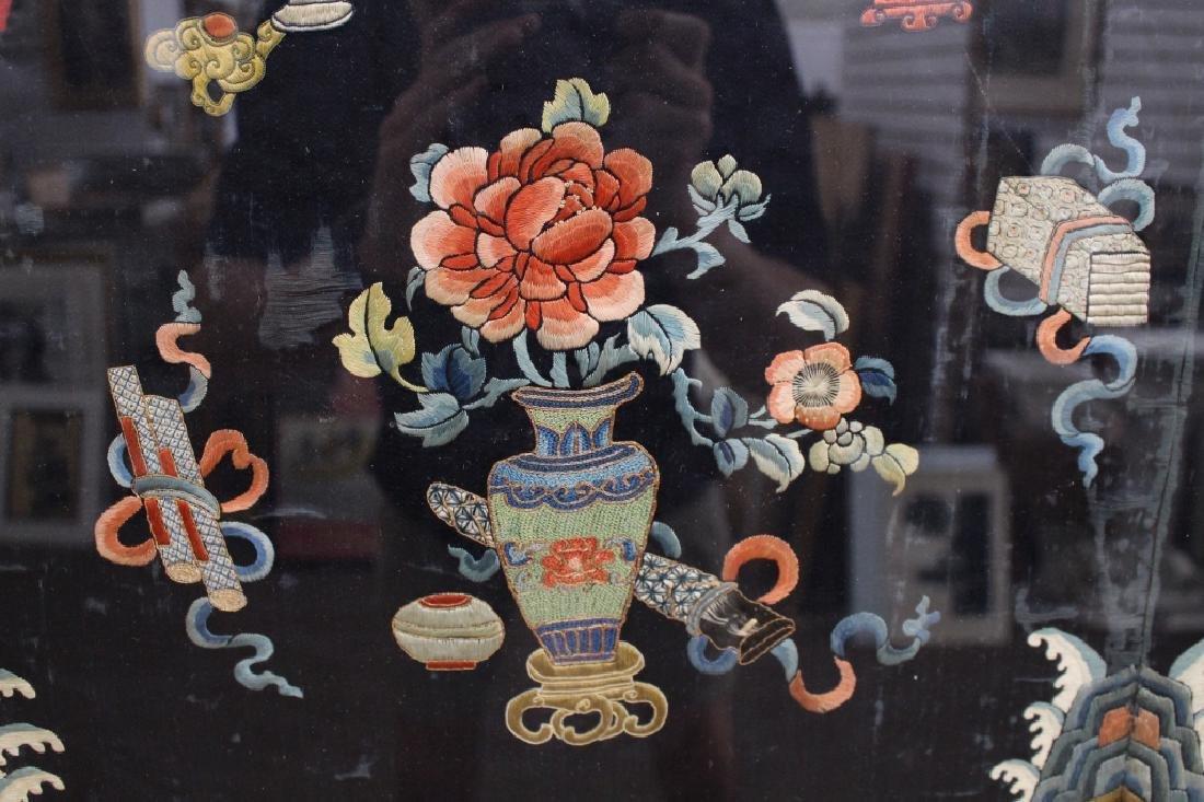 Framed Qing Dynasty Forbidden Stitchery Robe - 3