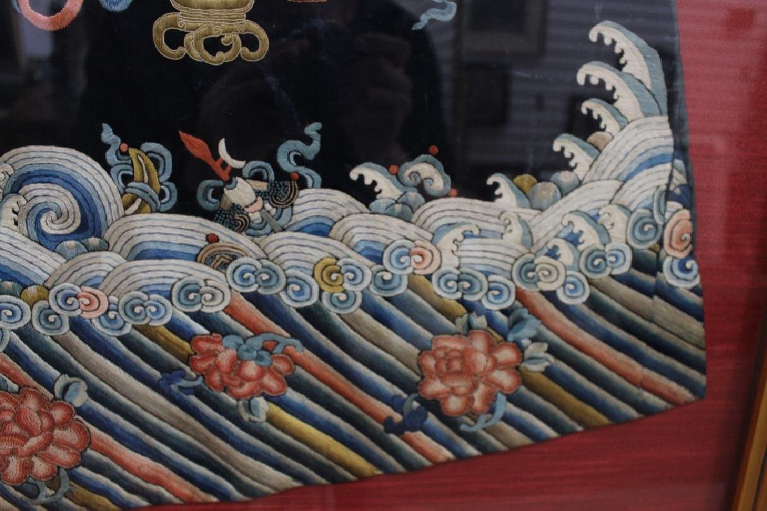 Framed Qing Dynasty Forbidden Stitchery Robe - 4