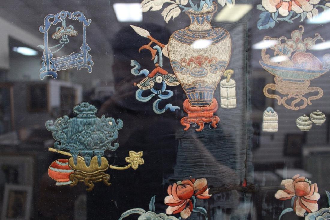 Framed Qing Dynasty Forbidden Stitchery Robe - 5