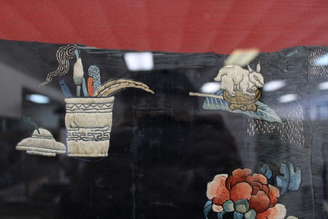 Framed Qing Dynasty Forbidden Stitchery Robe - 6