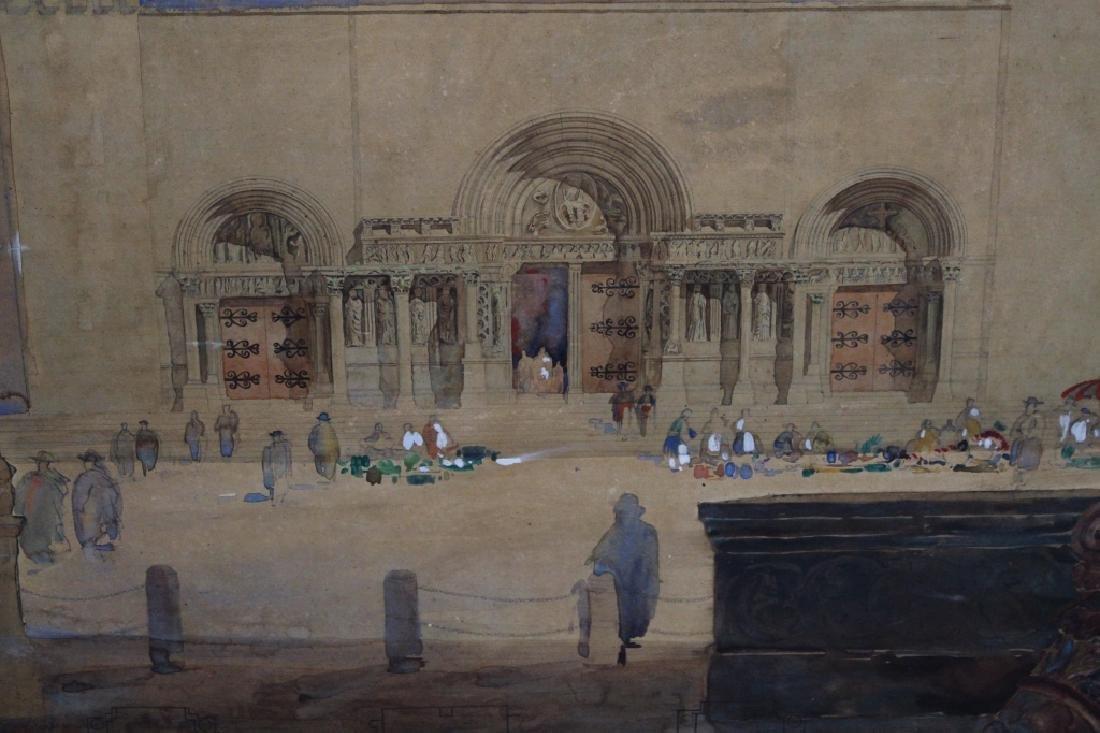 Large Signed 19th C. Cairo Scene - 2
