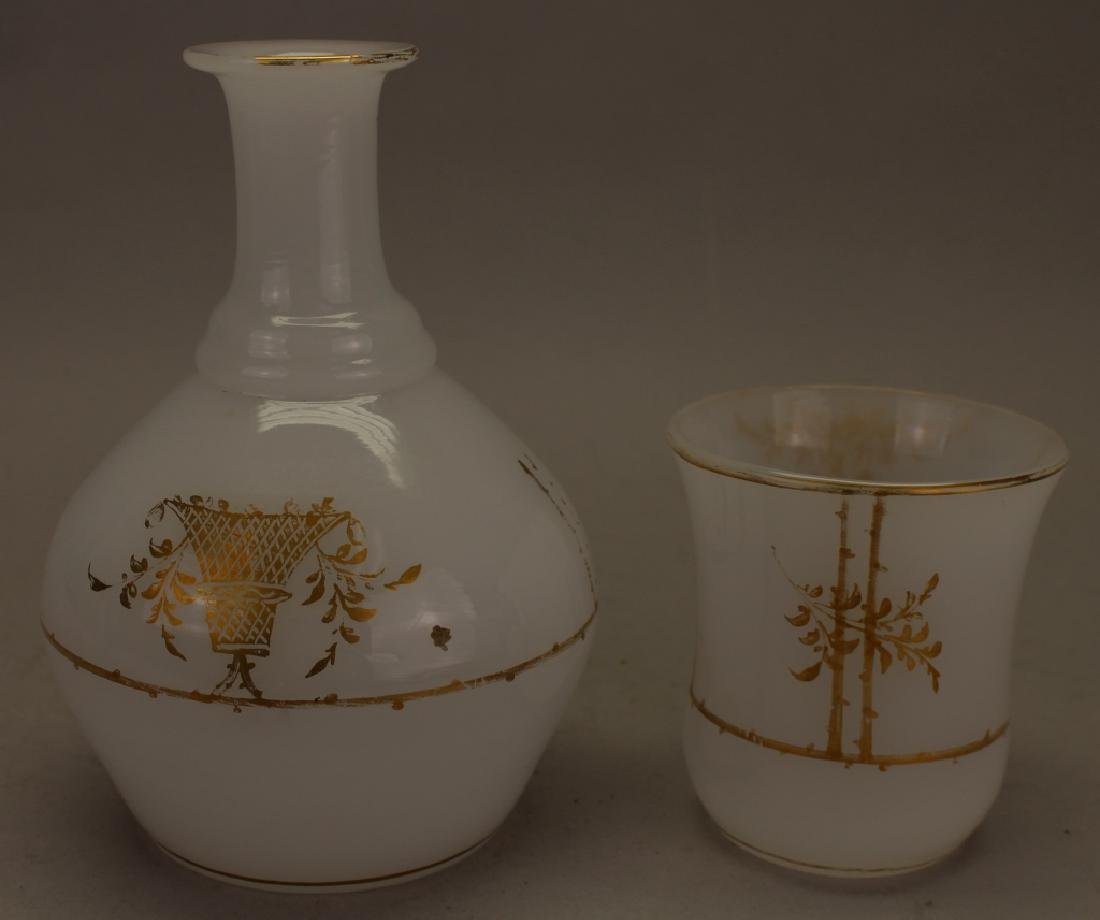 (2) French Opaline Glass Pieces