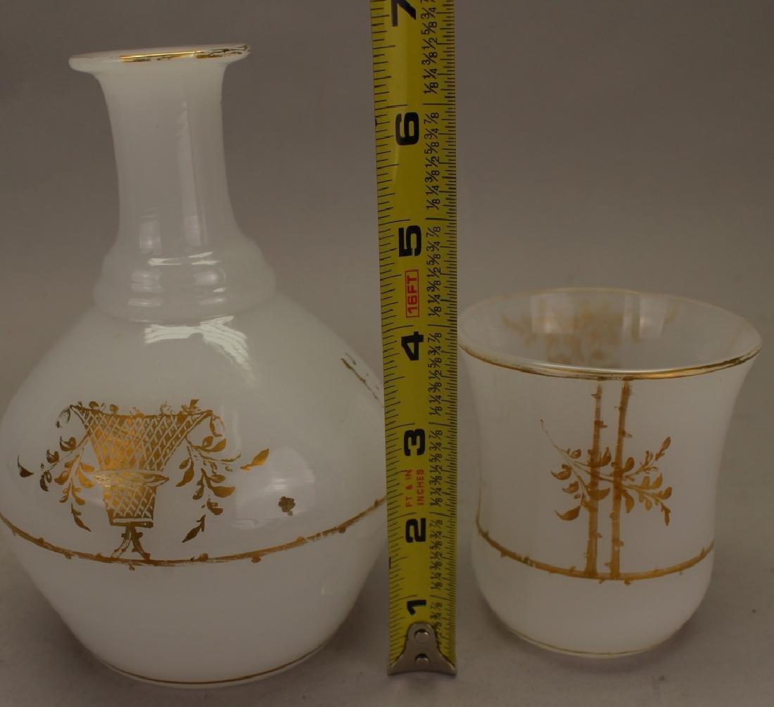 (2) French Opaline Glass Pieces - 2