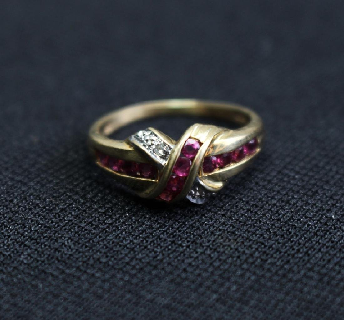 10k Gold Ruby & Diamond Ring