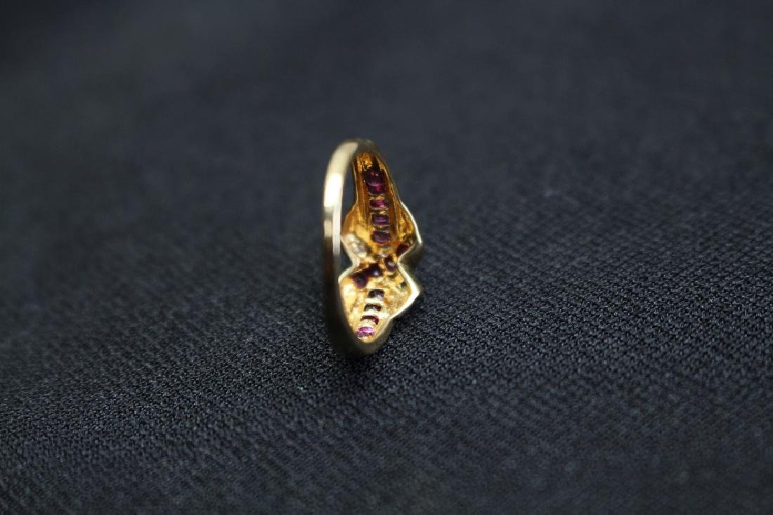 10k Gold Ruby & Diamond Ring - 3