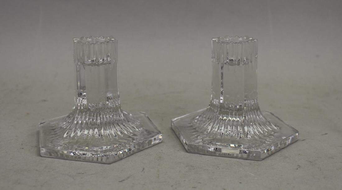 Signed Louis Comfort Tiffany Crystal Candle Sticks