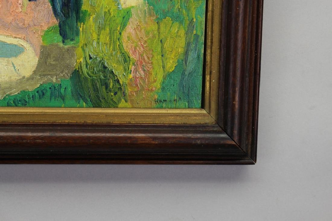 Signed 20th C. Spanish School Painting of a Villa - 3