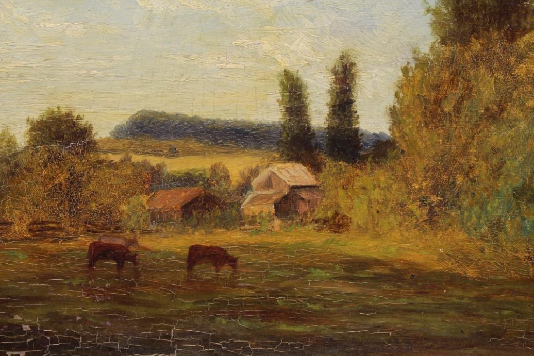 19th C. Pastoral Landscape w/ Livestock - 2