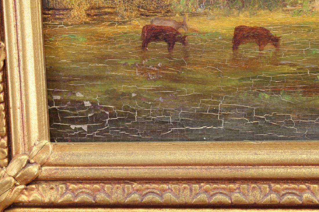 19th C. Pastoral Landscape w/ Livestock - 3