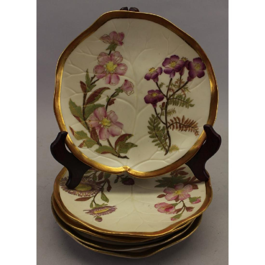 (5) Gilt French Floral Dishes