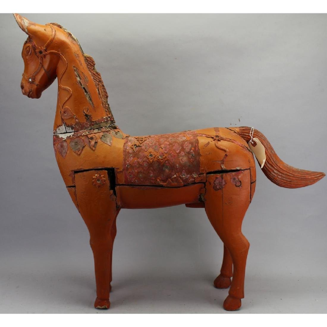 20th c. Carved Wooden Painted Horse