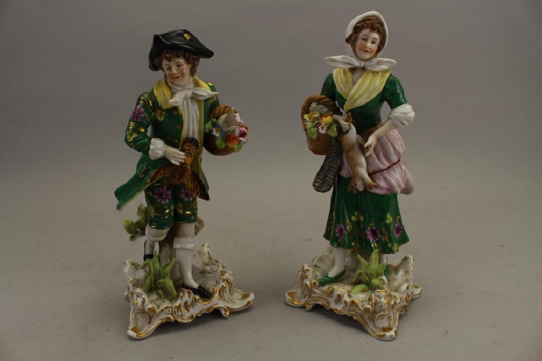 (2) Antique Chelsea Porcelain Figures