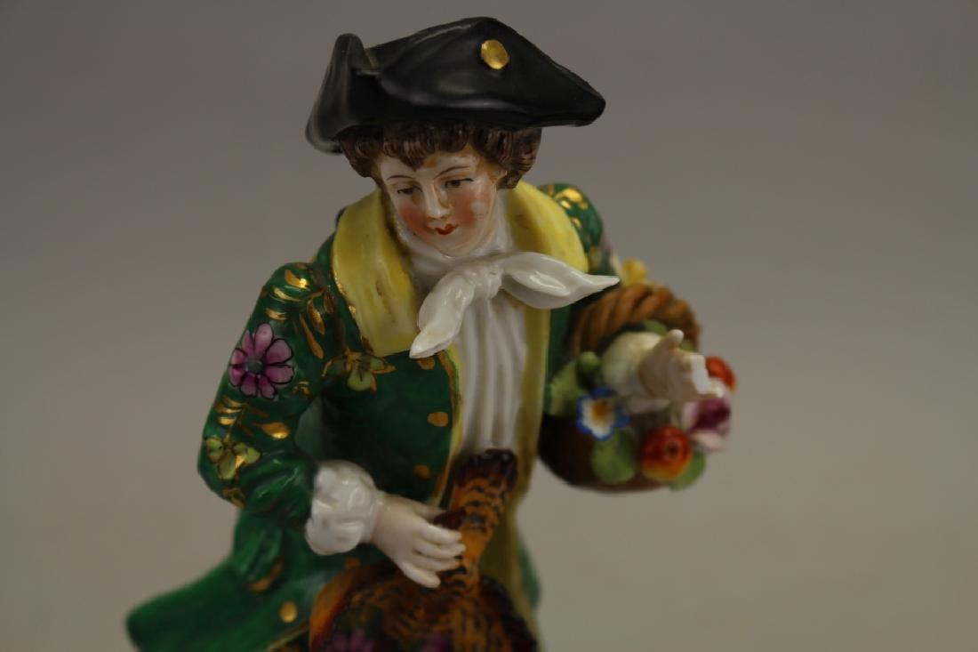 (2) Antique Chelsea Porcelain Figures - 2