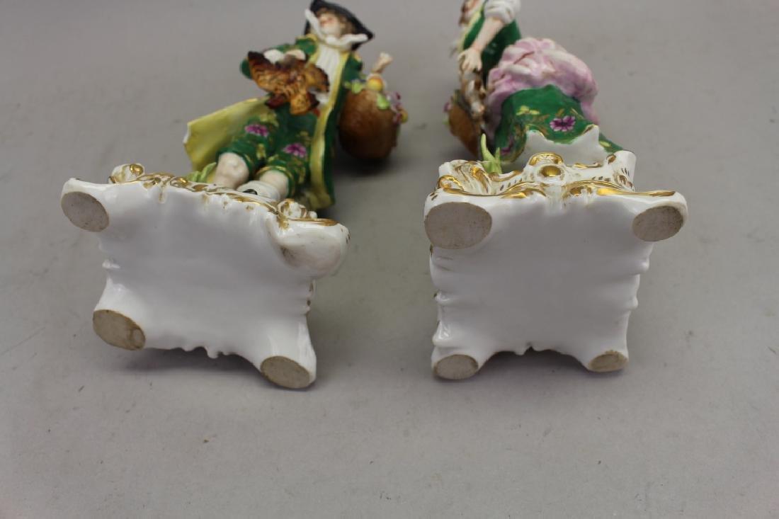 (2) Antique Chelsea Porcelain Figures - 5