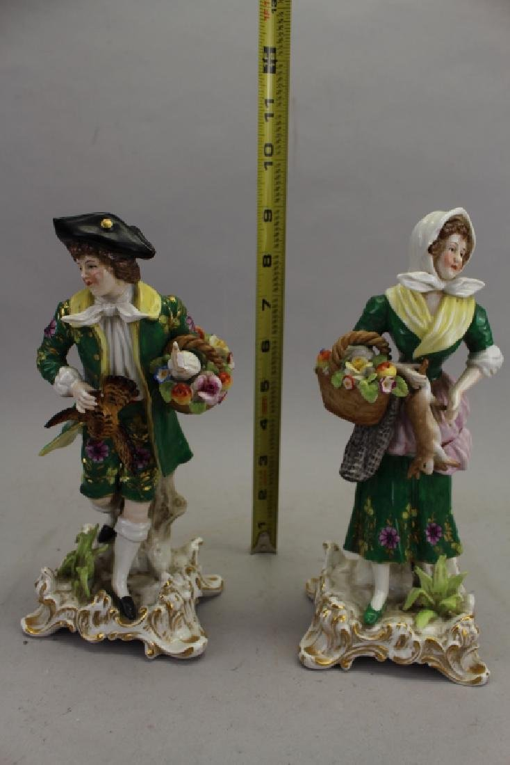 (2) Antique Chelsea Porcelain Figures - 6