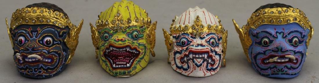 (4) Thai Khon Busts