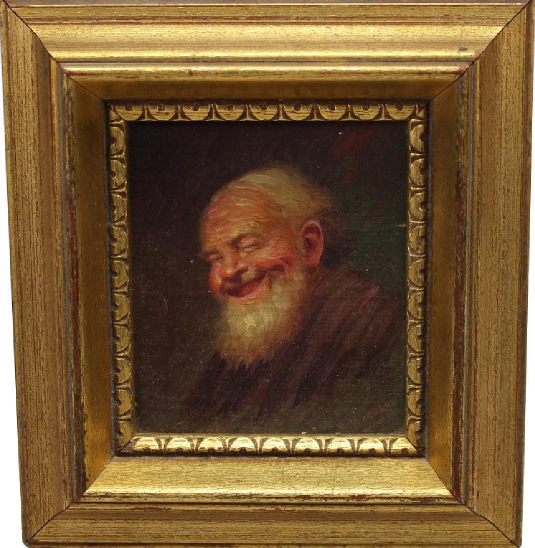 Signed 19th C. Portrait of an Elderly Man