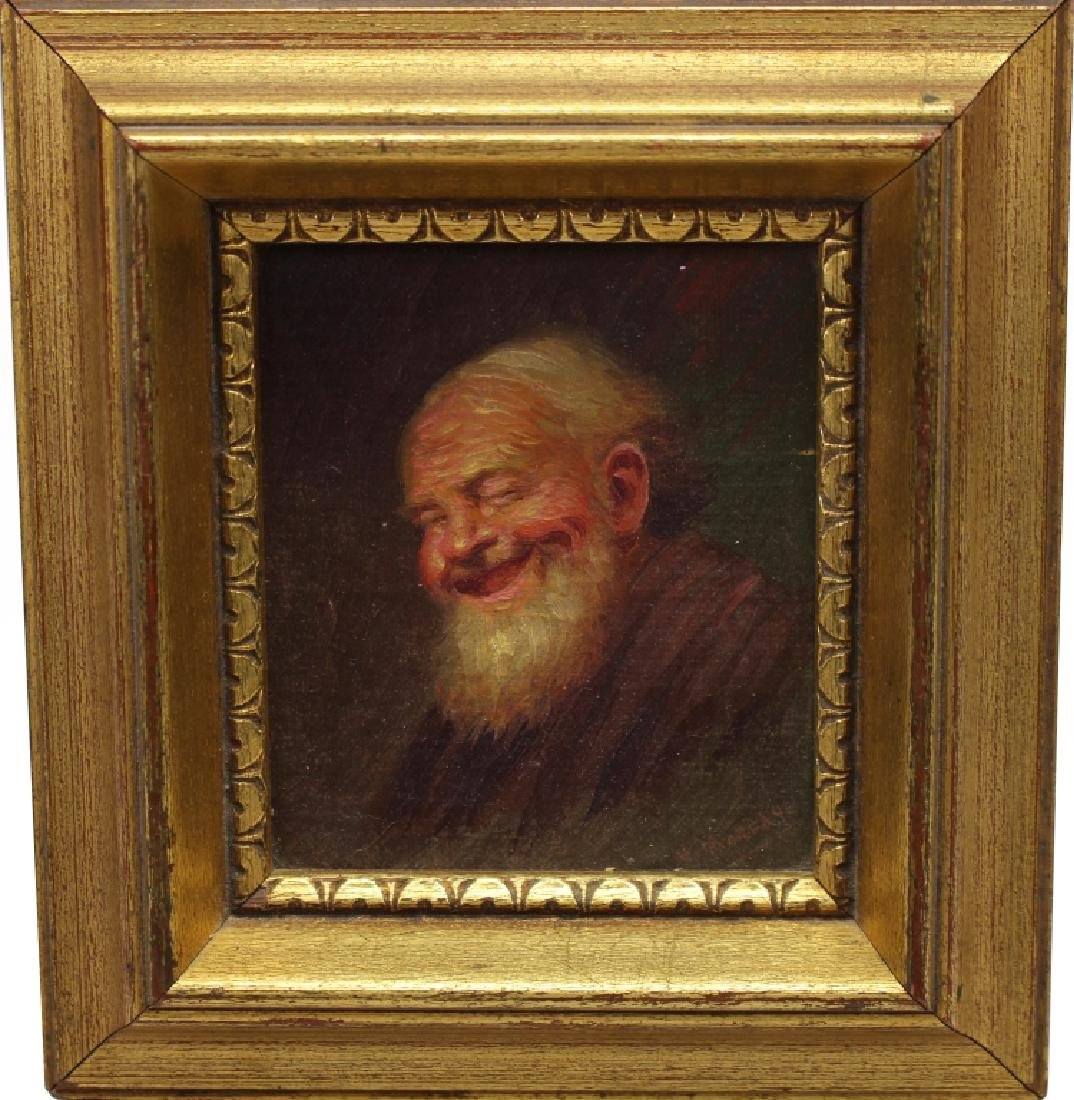 Signed 19th C. Portrait of an Elderly Man