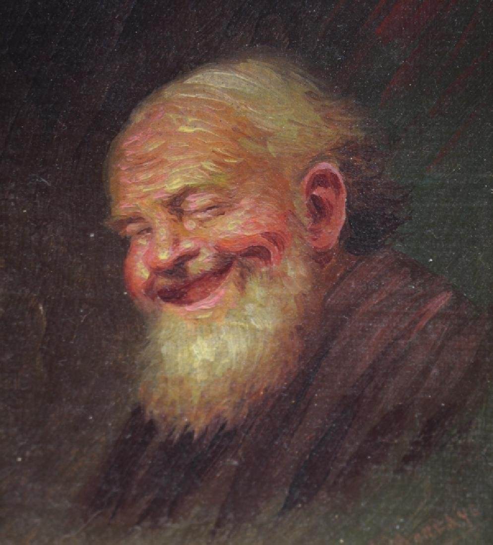 Signed 19th C. Portrait of an Elderly Man - 2