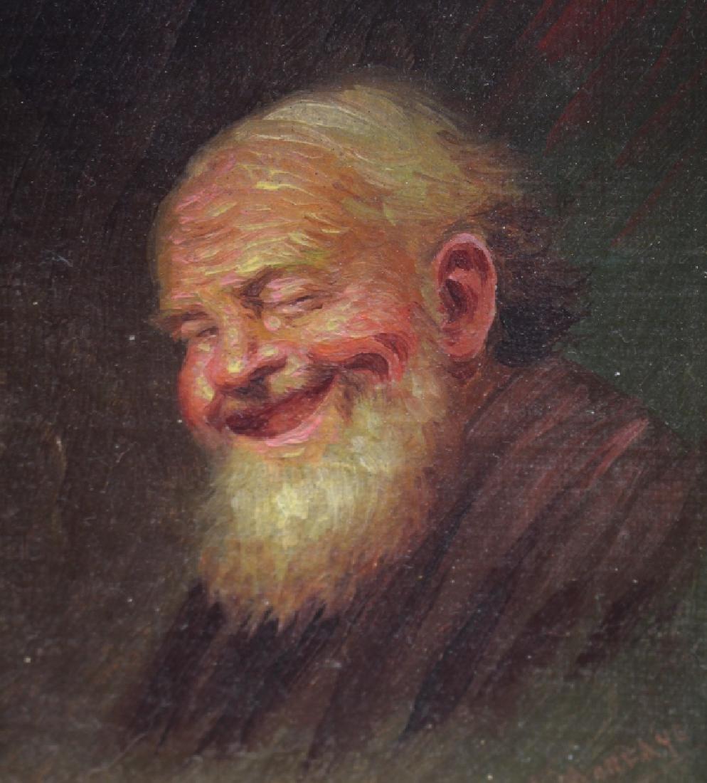 Signed 19th C. Portrait of an Elderly Man - 2