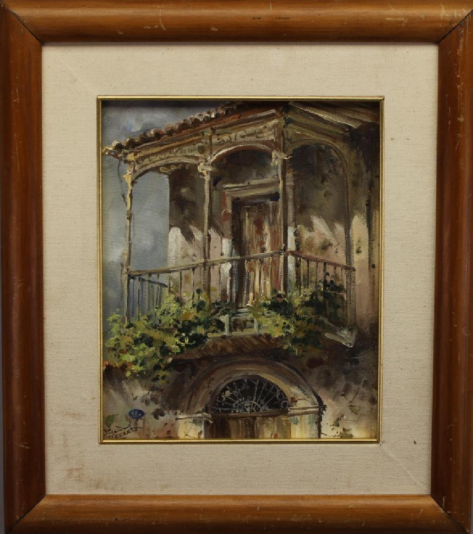Signed 20th C. New Orleans Scene