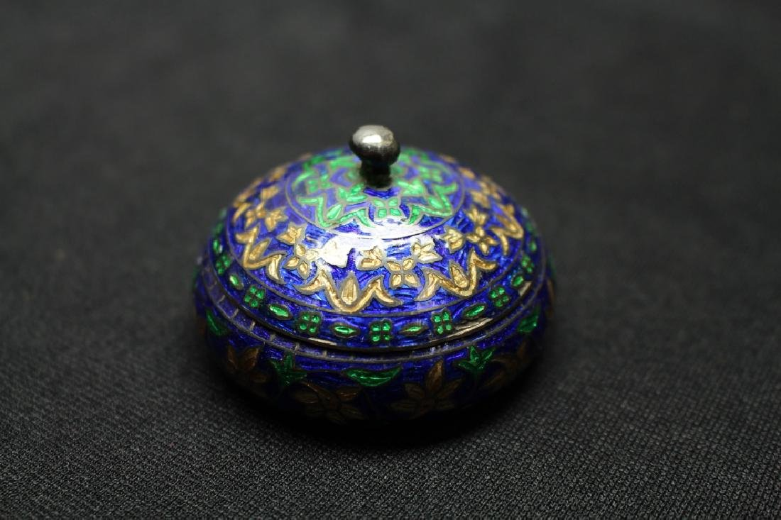 Sterling Silver & Enameled Small Box - 2