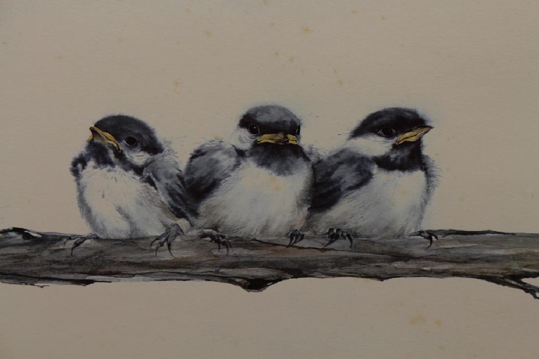 Frank T. Gee, Three Chickadees - 2