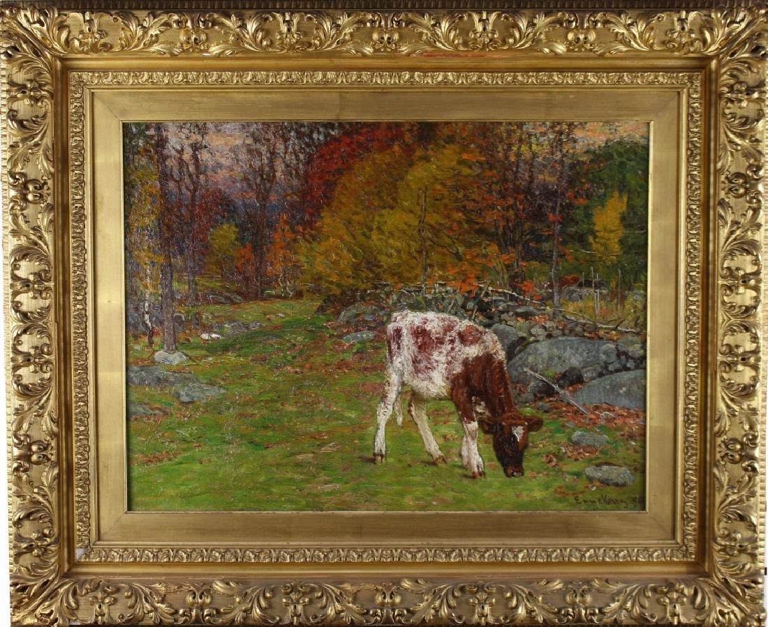 """Nibbling By The Day"" John J. Enneking (1841-1916)"