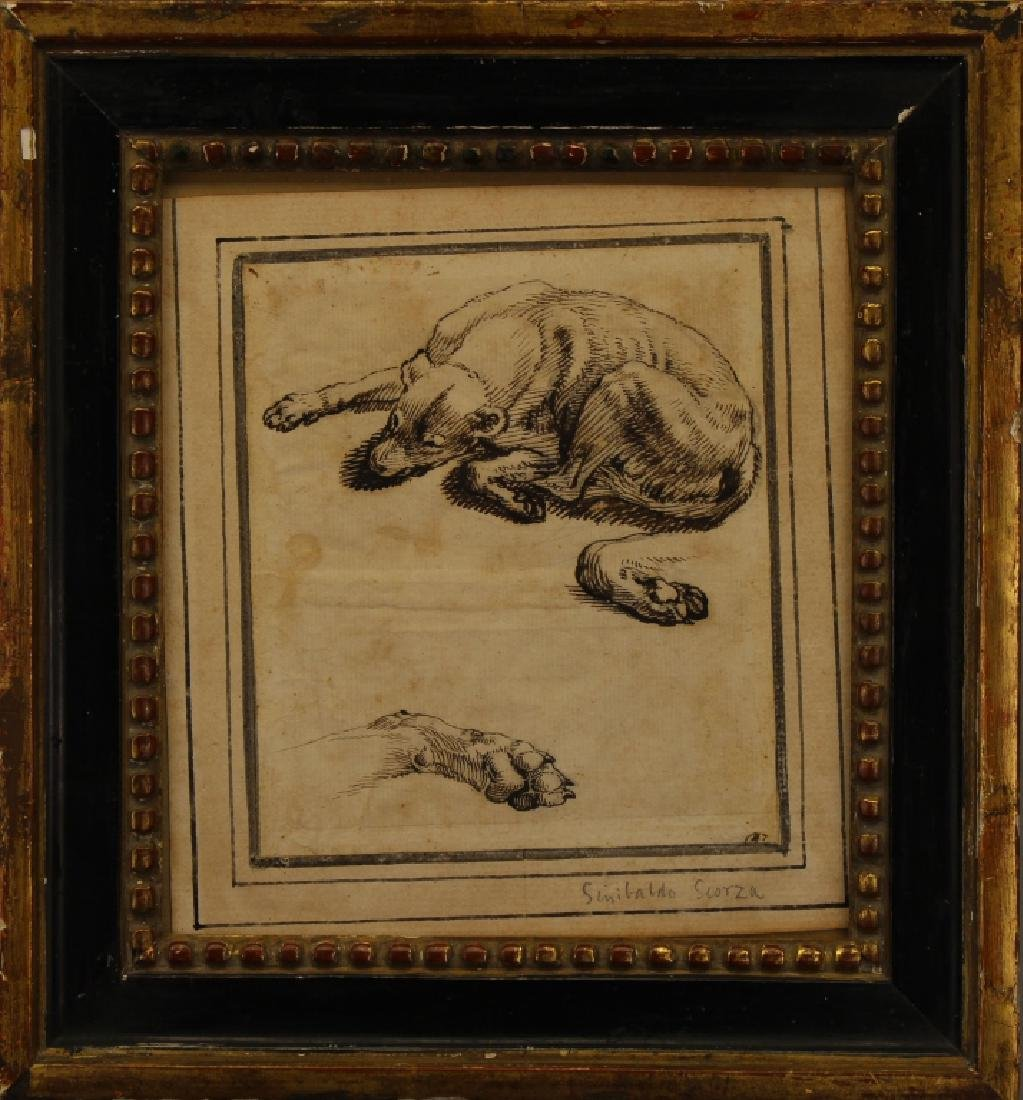 "Sinibaldo Scorza (Italy, 1589-1631) ""Sleeping Dog"""