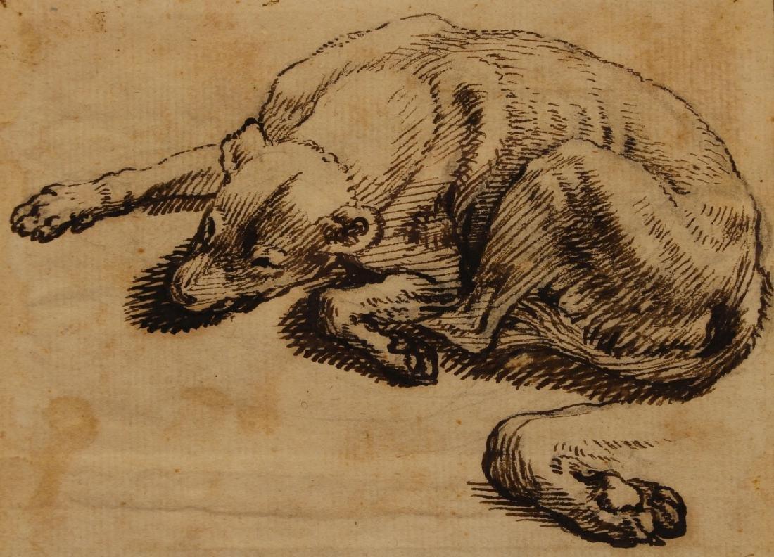 "Sinibaldo Scorza (Italy, 1589-1631) ""Sleeping Dog"" - 2"