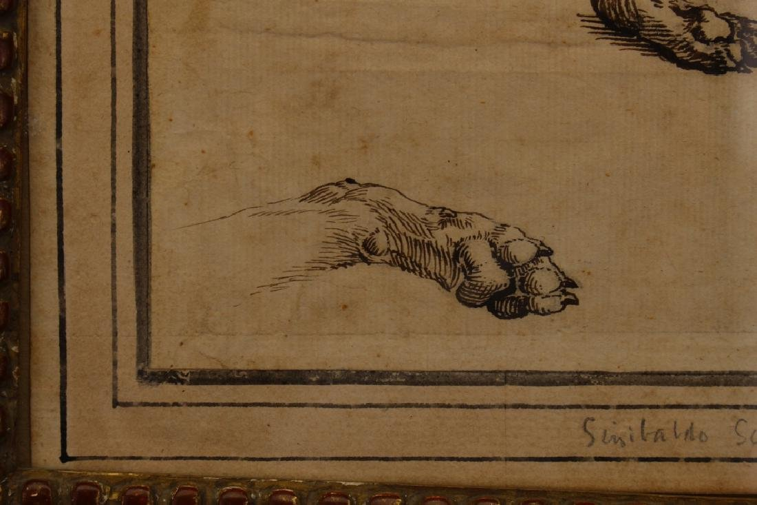"Sinibaldo Scorza (Italy, 1589-1631) ""Sleeping Dog"" - 3"