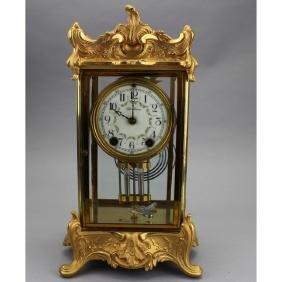 Gilt Bronze Seth Thomas Clock, Crystal Regulator