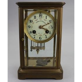 George F Feagans Bronze Clock, Crystal Regulator