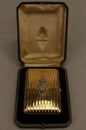 German Gold/Diamond Encrusted Cigarette Case